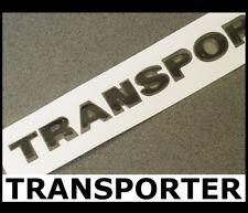 Black TRANSPORTER Lettering Badge Emblem VW Back Rear Door Tailgate Trunk T40b