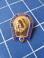 enamel pin badge SOUTH BRANTS LIONS Canada Ontario