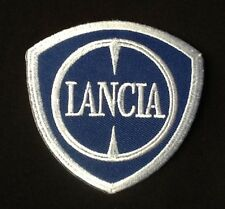 LANCIA BETA DELTA CAR LOGO BLUE WHITE  BADGE IRON SEW ON PATCH