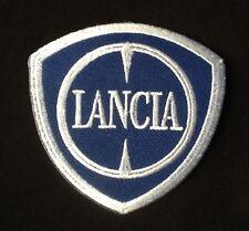 LANCIA BETA DELTA CAR LOGO BLUE WHITE  BADGE IRON SEW ON PATCH