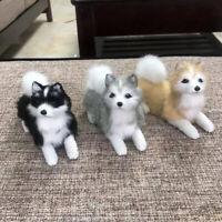 Realistic Simulation Husky Dog Plush Toy Model Stuffed Fluffy Dog Doll Kids Gift