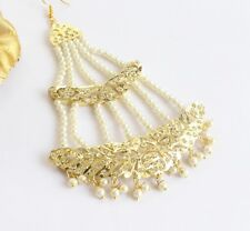 Gold Jadau Headpassa Jhumar Jhoomer Headpiece Side Hair Muslim Punjabi Jewelry