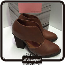 JEFFREY CAMPBELL Tan Ankle Leather Boots RRP $210.00 Size 6.5