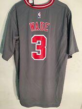 Adidas NBA Jersey Chicago Bulls Dwayne Wade Grey SS sz 2X