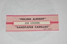 x1 Joe Cocker Jukebox Title Strip Feeling Alright B/w Sandpaper Cadillac A&M