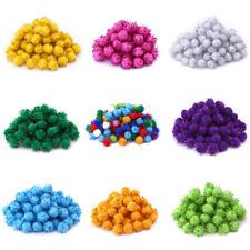 100x Glitter Plüsch Ball Pompon Haarwurzel DIY Bastelbedarf Partei Dekor mode
