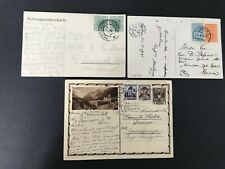 Postal History Austria 3 Interesting Postcards 2 to Italy, 1 to London