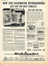 1953 Print Ad of Nash-Kelvinator Magic Cycle Model KPC Refrigerator Freezer