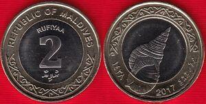 Maldives 2 rufiyaa 2017 BiMetallic coin UNC