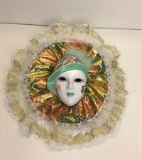 PIERROT Face Mask Ceramic Art Deco Wall Hanging