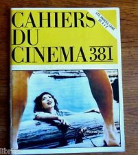 CAHIERS DU CINEMA N° 381 mars 1986 Chabrol Nagisa Oshima S. Paradjanov années 80
