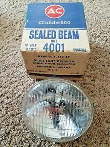 Vintage AC Guide  4001 12 Volt Replacement Headlight Bulb NOS
