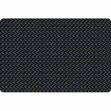 Diamond Foot Anti-Fatigue Industrial Mat, Black, 2' X 3'