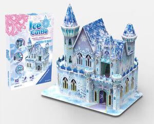Kids Children 3D Puzzle DIY Family Game Xmas Gift Ice Castle Princess Castle Toy