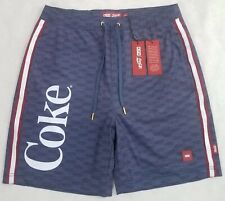 dd6ff2ea6fcce KITH Coca-Cola Coke Tilden Swim Shorts Trunks All Over Box Logo Blue $120 Sz