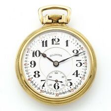 1919 Illinois Bunn Special 60 Hour Pocket Watch 23 Jewels 10K Gold Filled 6 Pos.