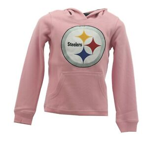 Pittsburgh Steelers Kids Youth Girls Size NFL Official Hooded Sweatshirt New Tag