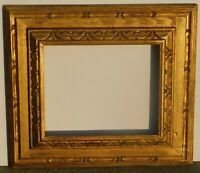 Vintage carved gold leaf frame fits 10 x 12 painting, outer dim 18 x 20
