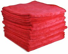 "Detailer 365 UItraplush Premium Microfiber Towels 16""x16"" 400GSM Red 12 Pack"