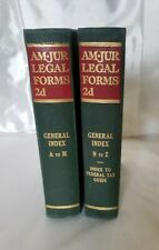 American Jurisprudence AM•JUR LEGAL FORMS 2d, 2nd Ed, General Index A-M & N-Z