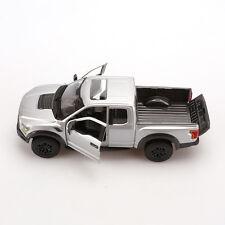MAISTO Alloy Diecast Car 1/24 Silver-Gray 2017 Ford F-150 SVT Raptor Truck Model