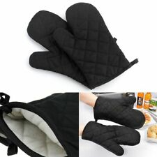 1 Pair New Cook Kitchen Baking Oven Gloves Padded Insulated Mitt Cotton Thick