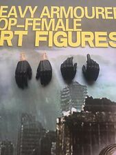 Art Figures Female Armored Cop Judge Anderson Gloved Hands x 4 loose 1/6th scale