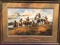 """Howard Terpning """"The Ploy"""" 1978-SIGNED & NUMBERED 869/1000: STUNNING!"""