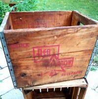Red Arrow Beverages Vintage Wood Soda Crate Box ~ Detroit