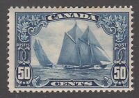 "Canada MINT OG Scott #158 50 cent Bluenose ""Scroll""  F"