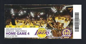 2008 NBA FINALS CELTICS @ LAKERS FULL BASKETBALL TICKET GAME #7 - KOBE BRYANT