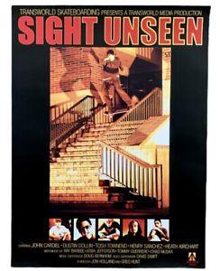 TRANSWORLD SKATEBOARDING SIGHT UNSEEN 2001 Video Release Poster HEATH KIRCHART