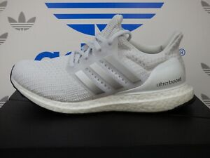 NEW ADIDAS ULTRABOOST 4.0 DNA Women's Running Shoes, Color White/Silver; FY9333