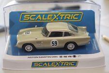 Scalextric C4166 Aston Martin Db5 White Gold Brands Hatch Slot Car 1/32