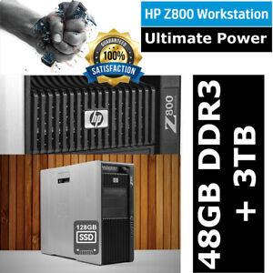 HP Workstation Z800 Xeon X5675 6-Core 3.06GHz 48GB RAM 3TB SAS DISK + 128GB SSD