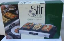 Stir Taste the World Glass Hot Plate - New !
