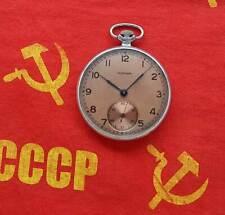 MOLNIJA Vintage Soviet Russian mechanical pocket watch. USSR