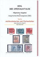 """SBZ-Spezialkatalog """"Aufdruckabarten ..."""" Allgemeine Ausgaben"""
