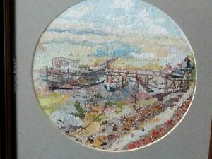 Original  Woolwork of Boats Moored on the Orwell near Pin Mill by C.Robinson