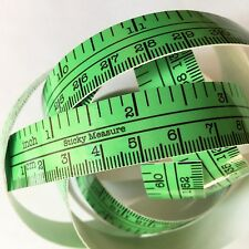 "60"" Light Green Self Adhesive Measuring Tape Ruler Sticker Sewing Fishing Boat"