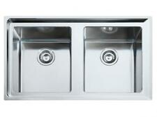 Franke NEPTUNE PLUS DOUBLE BOWL SINK 860x510mm 1-Taphole, Stainless Steel
