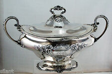 Gorham Sterling Silver Covered Soup Tureen or Vegetable Dish, c.1896