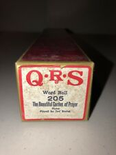QRS Player Piano Word Roll 205 The Beautiful Garden Of Prayer Hymn Ted Baxter