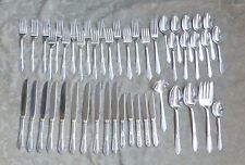47 PC NORTHUMBRIA LAURIER STERLING SILVER FLATWARE SPOONS FORKS KNIVES 70 OZ