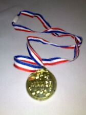 6 Football Winners Medals in Gold on String-  Toy loot/Party Bag Stocking Filler