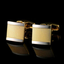 New Gold Diamond French Cufflinks Men's French Button Shirts Cuff Links 01#