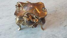 "Art Nouveau Gold Gilt  Metal Ring Casket  Weidlich Bros. NY 3 1/2"" W"