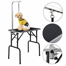 New 32'' Adjustable Pet Dog Cat Grooming Table Top Foam W/Arm&Noose Rubber Mat