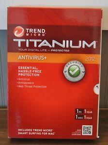 """New! Trend Micro Titanium """"Antivirus+"""" (2012) [1 PC/1 Mac (1 Year)]"""
