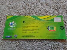 Original Ticket World Cup Germany 2006 GERMANY - ARGENTINA // Match 57